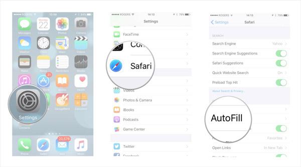 設置iPhone自動填充