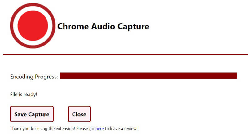 Save Audio Capture Chrome MP3