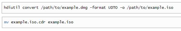 Converti DMG in ISO