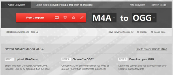M4A to OGG - Convert M4A to OGG with Easy Ways