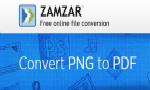 Zamzar PNG a PDF