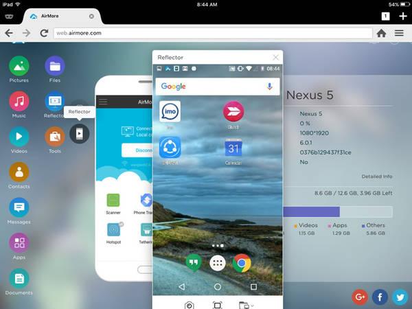 Καθρέφτης Android στο iOS με airmore