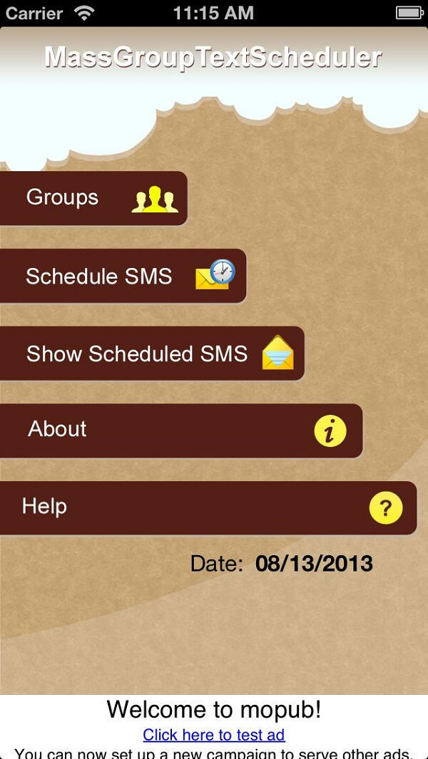 Mass group text scheduler