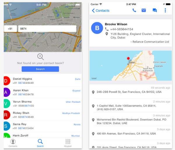 Tracker posizione numeri mobili