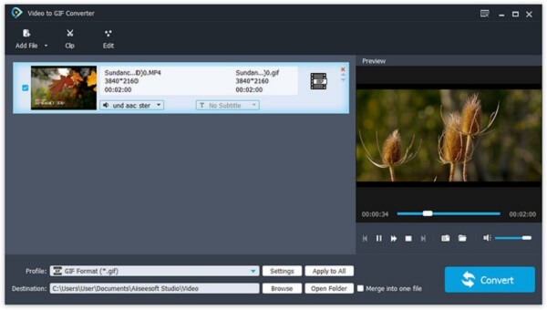 Video naar GIF Converter