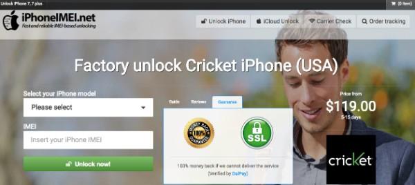 Sblocca Cricket iPhone 6 su iPhoneimei
