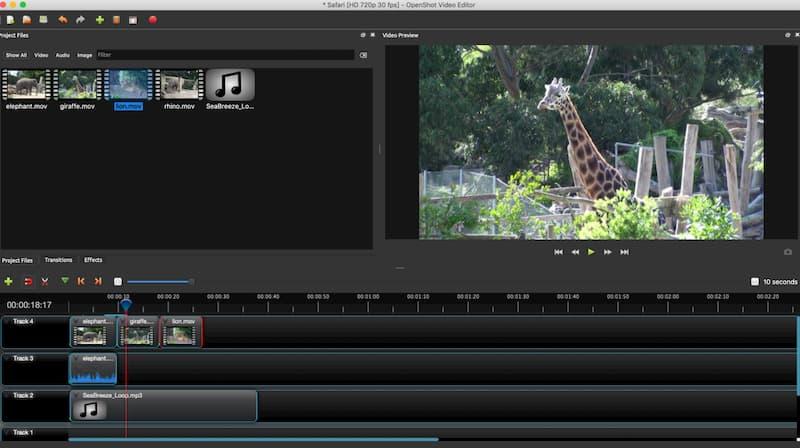 Πρόγραμμα επεξεργασίας βίντεο Openshot