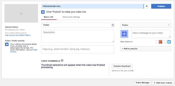 Ανεβάστε τα βίντεό σας στο YouTube