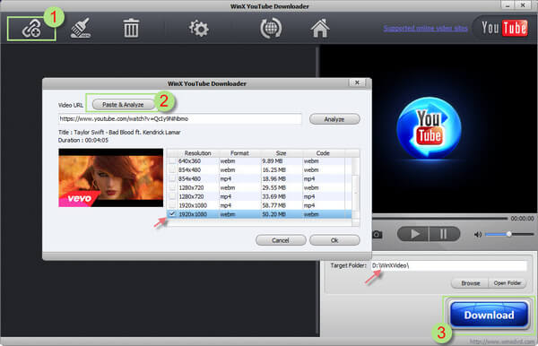WinX Free YouTube Downloader