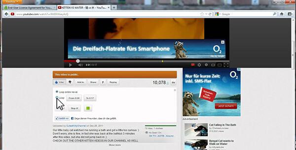 Επανάληψη αναπαραγωγής YouTube στον Firefox