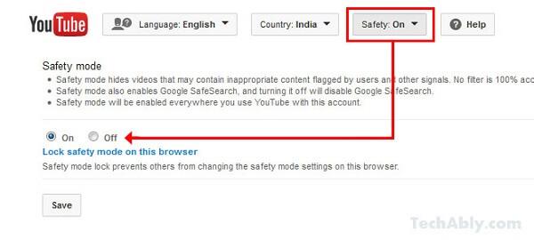 Απενεργοποιήστε τη λειτουργία ασφάλειας YouTube