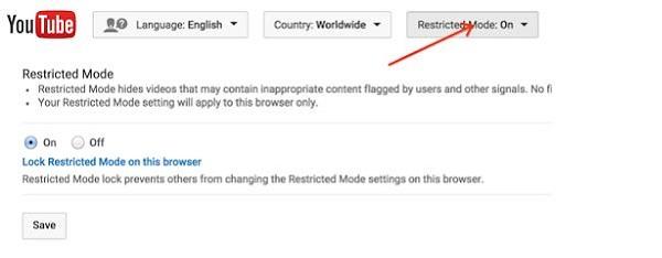 Ενεργοποιήστε τη λειτουργία ασφάλειας του YouTube