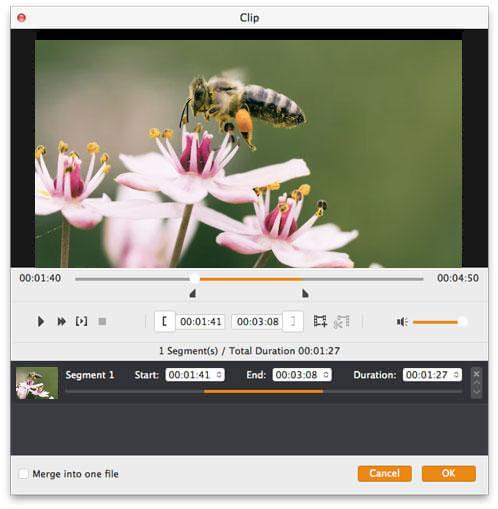 Trim βίντεο