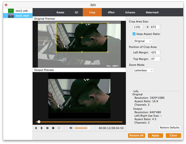 Aggiungi file MP4 a questo convertitore video per Mac