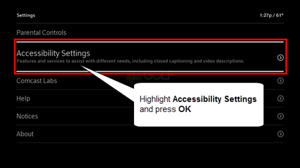 Impostazioni di accessibilità