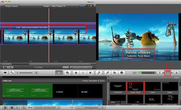 How to add subtitles to videos and movies in imovie add subtitles in imovie 1198 ccuart Choice Image