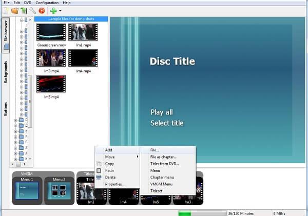 Προσθέστε υπότιτλους στο DVDStyler