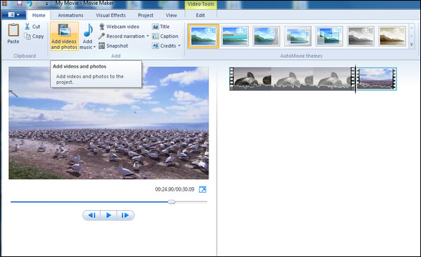 Add Music in Windows Movie Maker