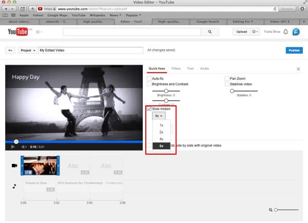 Aggiungi Slow Motion al video di YouTube