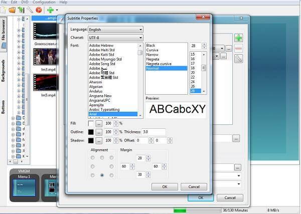 Προσαρμόστε τους υπότιτλους στο DVDStyler