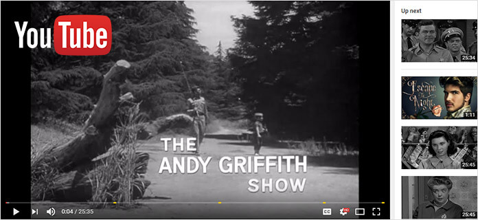 Andy Griffith mostra YouTube