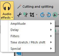 Effetti audio su VSDC