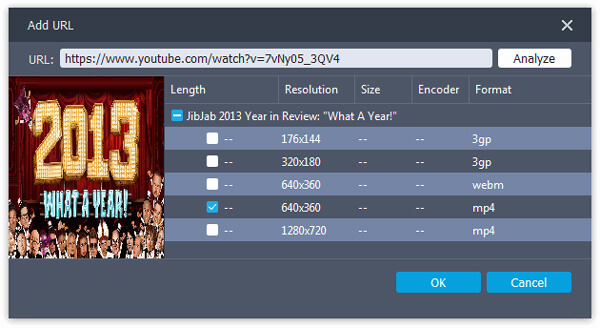 Choose JibJab Video Resolution