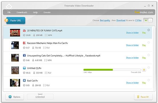 Freemake Video Downloader將URL轉換為MP4