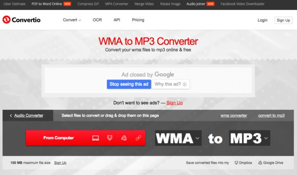 Converti WMA in MP3 online