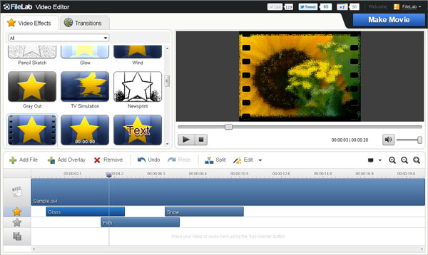 Editor video FileLab