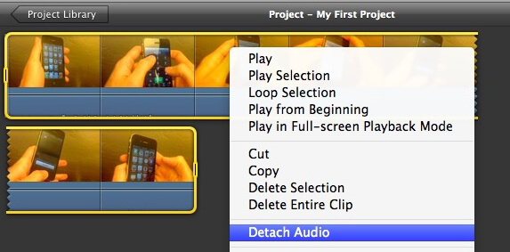 Detach Audio from Video with iMovie