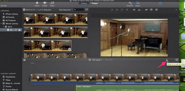 Importa audio in iMovie