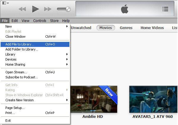 how to add movies to itunes on pc