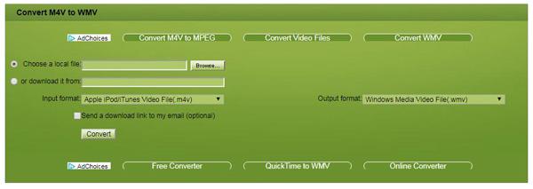 Plik M4V do WMV online