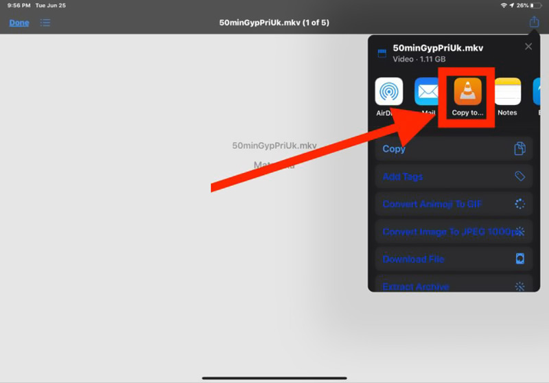 Hrajte MKV na iPadu s VLC