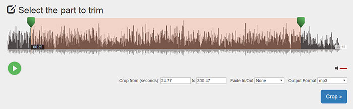 Seleziona MP3 Part Cut
