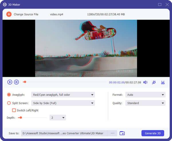 Imposta video 3D