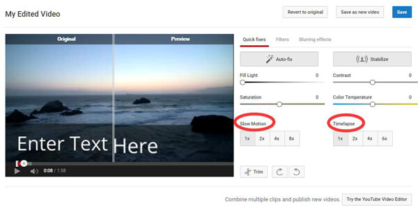 Velocizza i video di YouTube con Timelapse