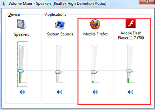 Ρύθμιση μείκτη έντασης ήχου