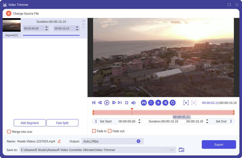 Video zastřihovač Novinka