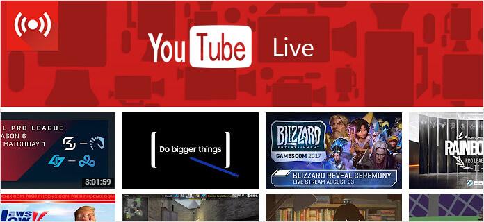 YouTube Ζωντανά