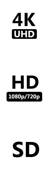 4K, 1080p/720p HD and SD