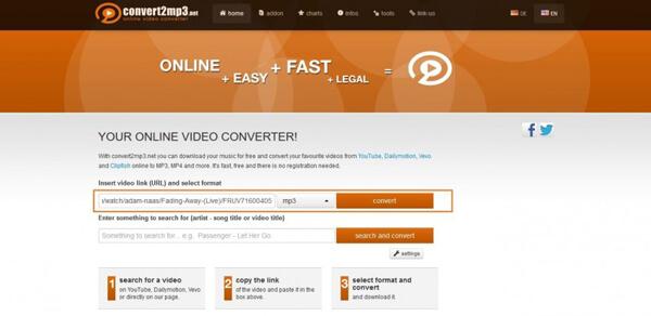 Preparazione alla conversione da Vevo a MP3 online