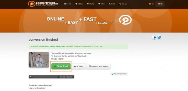 Converti Vevo in MP3 online