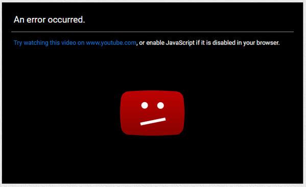Ενεργοποιήστε το YouTube Javascript
