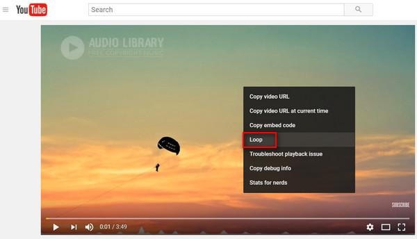 Βρόχος μουσικής YouTube
