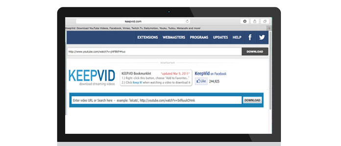 keepvid download videos