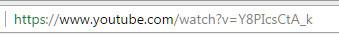 Διεύθυνση URL του YouTube