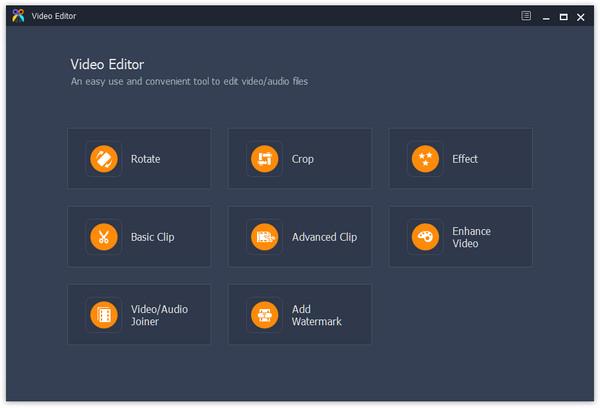 Interfaccia principale di Video Editor