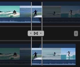 Προσθήκη μετάβασης χρησιμοποιώντας πρόγραμμα περιήγησης στο Final Cut Pro